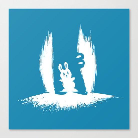 cornered! (bunny and crocodile) Canvas Print