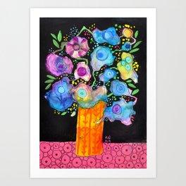Blue Flowers I Art Print