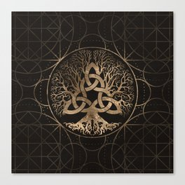 Tree of life -Yggdrasil with Triquetra Canvas Print