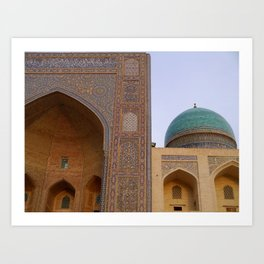 Mir-i-Arab Madrasah in Bukhara Art Print