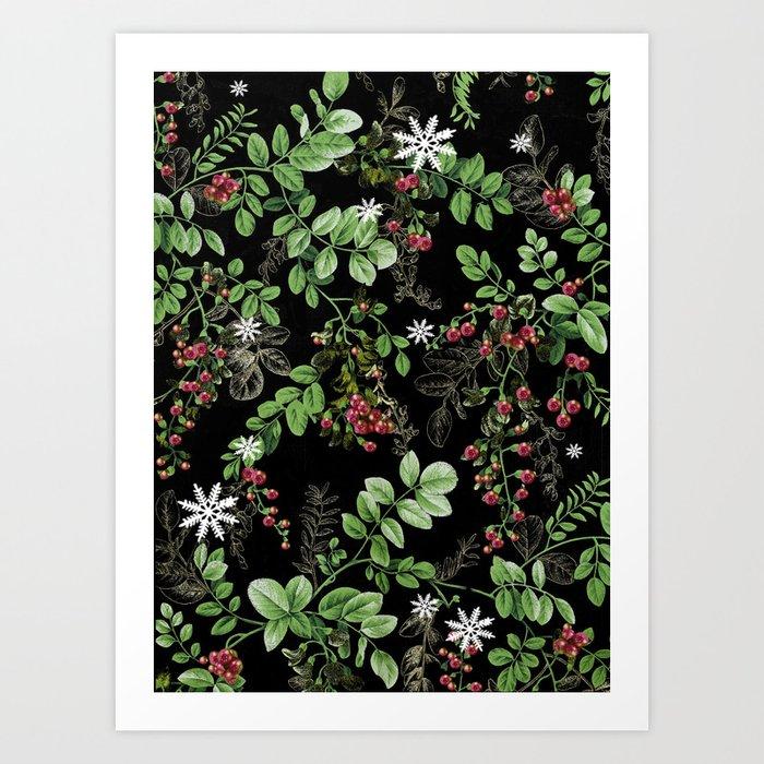 mid winter berries Art Print