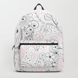 Classy doodles hand drawn floral artwork Backpack