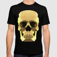 Polygon Heroes - Gold Skull Mens Fitted Tee Black MEDIUM