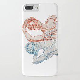 Jimin red and blue iPhone Case
