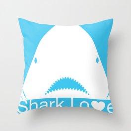 Shark Love II Throw Pillow