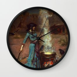 The Magic Circle John William Waterhouse Painting Wall Clock