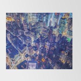 New York city night color Throw Blanket