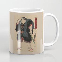 Sumo Wrestler Japanese Woodcut Block Print Coffee Mug