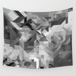 Black / White and Gray Scale Geometric Geometry Shape Pattern Wall Tapestry