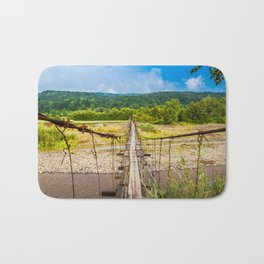 suspension bridge Bath Mat