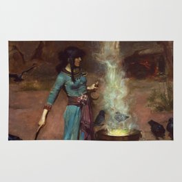 The Magic Circle John William Waterhouse Painting Rug