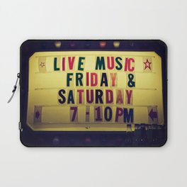 Live music sign Laptop Sleeve
