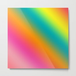 Blended Rainbow Time To Feel Good Metal Print