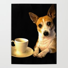 Tea Time with Puppy Poster