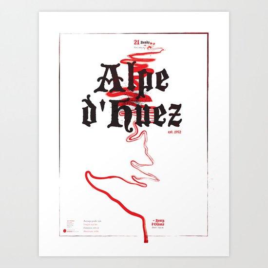 Famous Climbs: Alpe d'Huez 2, Old World Art Print