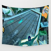 swimming Wall Tapestries featuring Swimming by Robin Curtiss