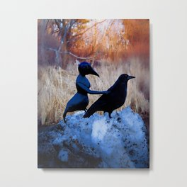 Crow People Metal Print