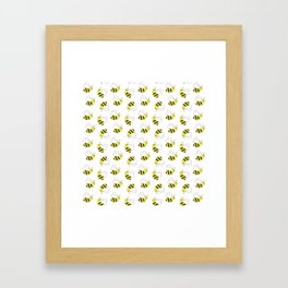 Bumble Bee Pattern Framed Art Print