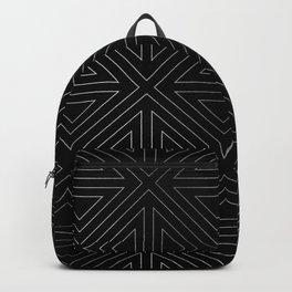 Angled Black & Silver Backpack