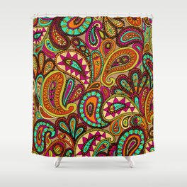 Basic Paisley  Shower Curtain