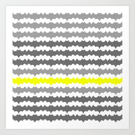 Gray and Yellow Abstract Pillow Art Print