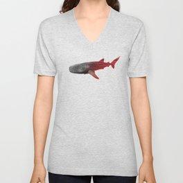 Whale Shark Sunset Unisex V-Neck