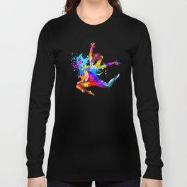 Hip hop dancer jumping Long Sleeve T-shirt