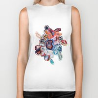 agate Biker Tanks featuring Earth's Loveliness, Agate Collection by Elena Kulikova