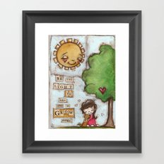 Be the Light (with dog) Framed Art Print