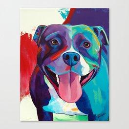Emma - Pitbull Pop Art Canvas Print