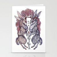 caitlin hackett Stationery Cards featuring Rare Hearts by Caitlin Hackett