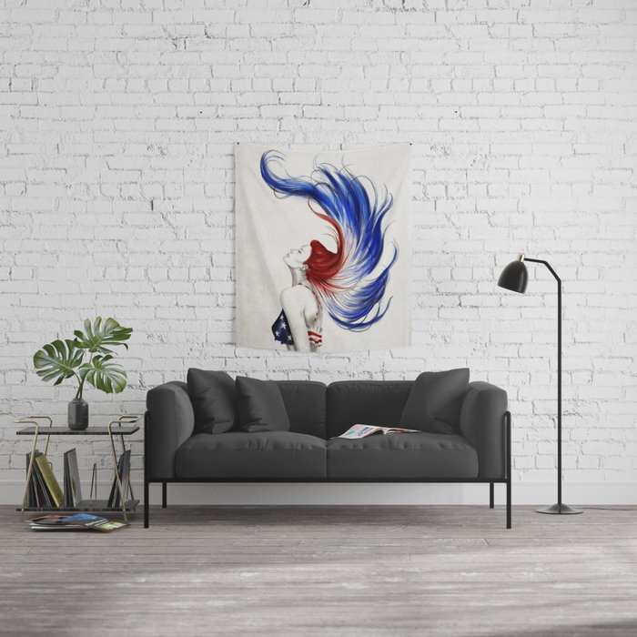 .Liberty Wall Tapestry