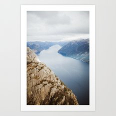 Lysefjord, Norway in Winter Art Print