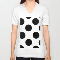 polka dot V-neck T-shirts featuring Polka Dot by JiaMiin Berglund
