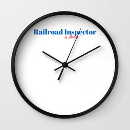 Railroad Inspector in Action Wall Clock