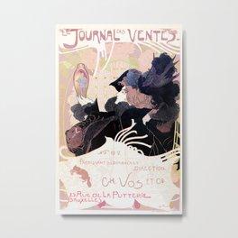 1899 Art nouveau auction journal ad Metal Print