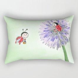 Marienkäfer flower Rectangular Pillow