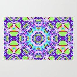 Decorative Kaleidoscope with little Hearts Rug