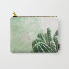 Cacti Green Watercolor Carry-All Pouch