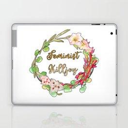 Feminist Killjoy - Floral Wreath Laptop & iPad Skin