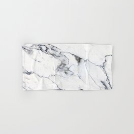 White Marble I Hand & Bath Towel