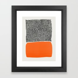 City Sunset Abstract Framed Art Print