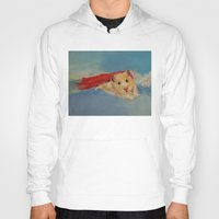 superhero Hoodies featuring Hamster Superhero by Michael Creese