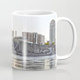 Minneapolis Minnesota Skyline Sunset and River-Bright Coffee Mug