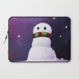 Starry Snowman Laptop Sleeve
