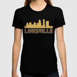 Vintage Style Louisville Kentucky Skyline T-shirt