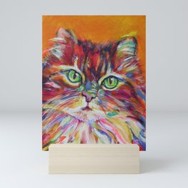 Big fat cat Mini Art Print