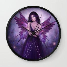 Mirabella Purple Butterfly Fairy Wall Clock