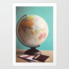 Travel planning Art Print
