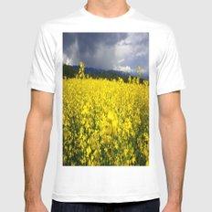 Yellow Fields Mens Fitted Tee White MEDIUM